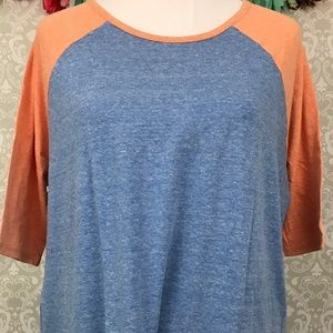NWT LuLaRoe Irma SMALL heather blue orange